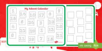 make your own advent calendar template make your own advent calendar template