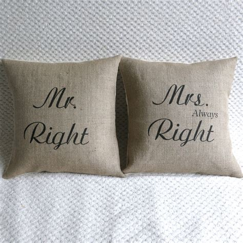 Mr Right Mrs Always Right Pillow by Mr Right Mrs Always Right Pillow Covers Decorative Pillows