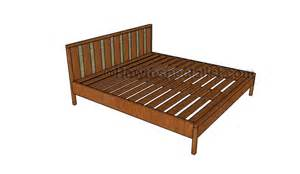 King Size Bed Frame Blueprints King Platform Bed Plans Howtospecialist How To Build