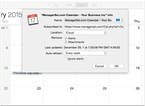 Add Ical To Calendar Add Your Calendar Feed To Your Calendar About Managersal