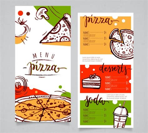 pizza menu template 23 free premium download