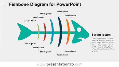 cause and effect diagram template powerpoint fishbone diagram for powerpoint presentationgo