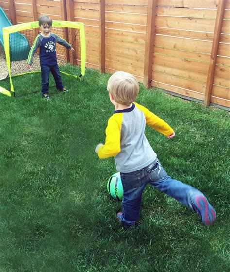 play backyard soccer outdoor style 6 favorite lawn games for young kids