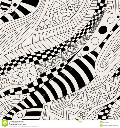 abstract doodle pattern abstract zentangle doodle waves seamless pattern stock