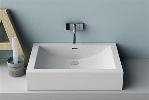 lavandini in corian lavabo in corian rettangolare soprapiano o integrato cuna