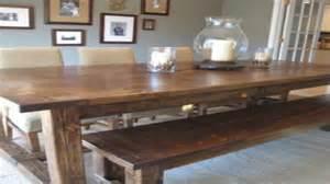 Kitchen table farmhouse style diy farmhouse table and bench kitchen
