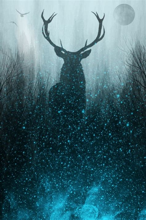 wallpaper blue deer best 25 nature paintings ideas on pinterest awesome
