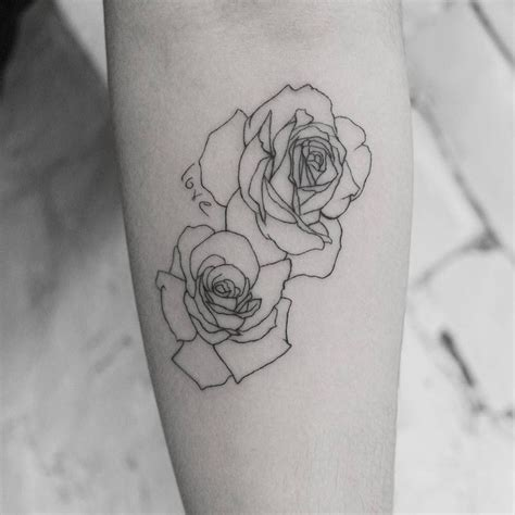 outline of rose tattoo 1000 ideas about outline on tattoos