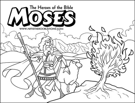 free coloring pages bible heroes the heroes of the bible coloring pages moses and the