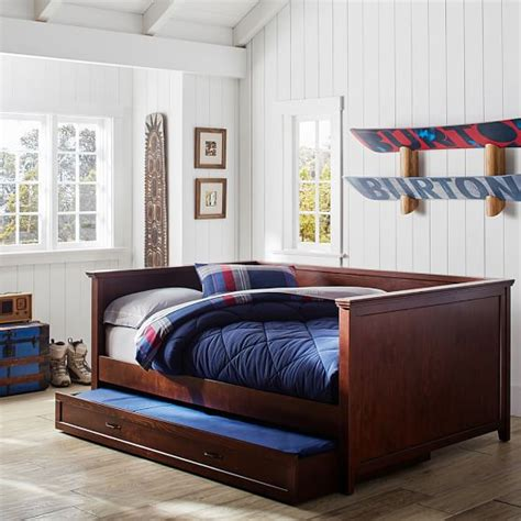 day bed with trundle hton daybed trundle pbteen