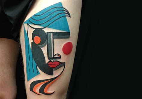 modern art tattoo a modern picasso the cubist tattoos of mike boyd scene360