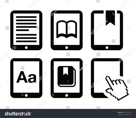 e book icon design stock vector image 49331229 ebook reader ereader vector icons set stock vector