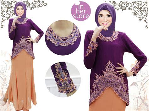 Blus Muslim Chiffon Kembang Xl qatar inherstore