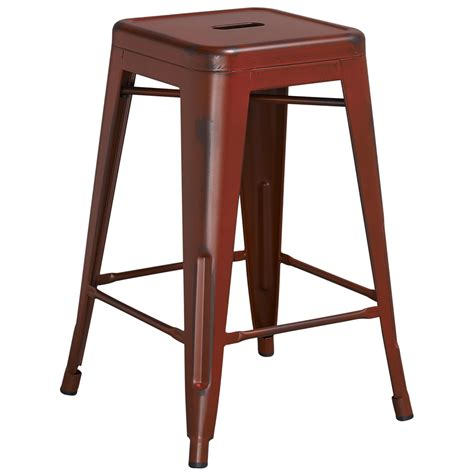 24 inch backless bar stools tolix distressed indoor outdoor backless counter stool
