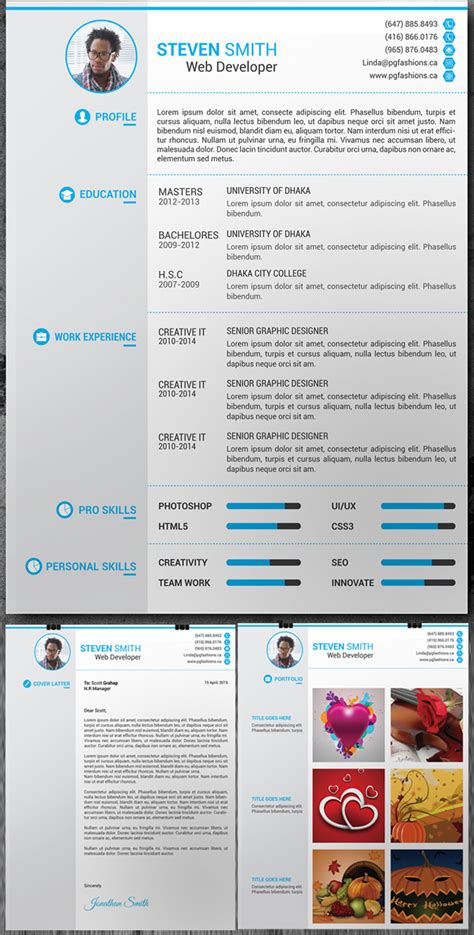 fantastic free modern resume templates cv template html gallery certificate design and template
