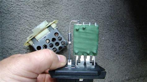 zafira heater resistor keeps blowing blower motor stuck on high