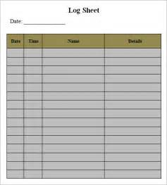 log template documents in pdf word excel