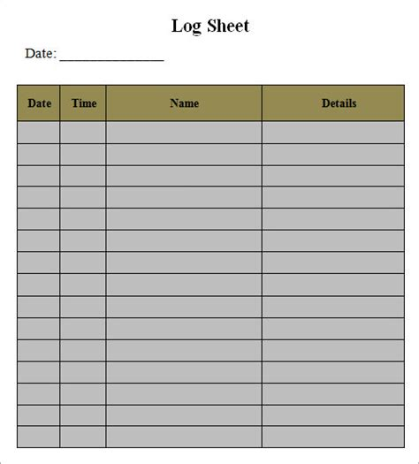 log template log template documents in pdf word excel