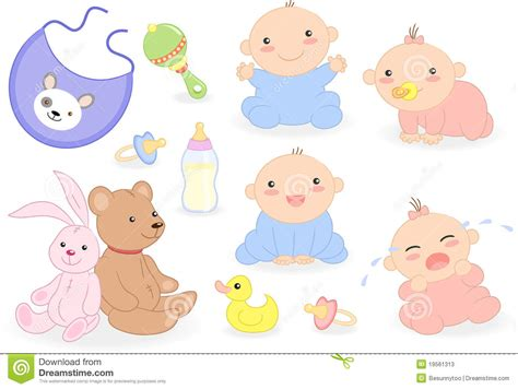 Baby Bathroom Accessories Baby Set With Babies And Accessories Stock Photos Image 19561313