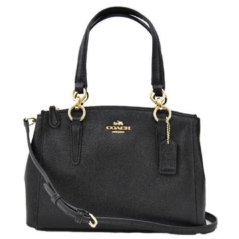 Coach Bag coach black crossgrain leather christie cross bag