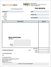 Tax Invoice Template by 10 Tax Invoice Templates Free Documents In