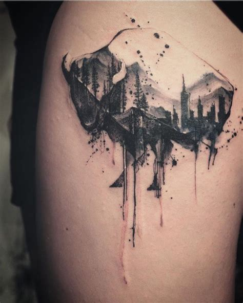 63 wonderful mountain tattoos