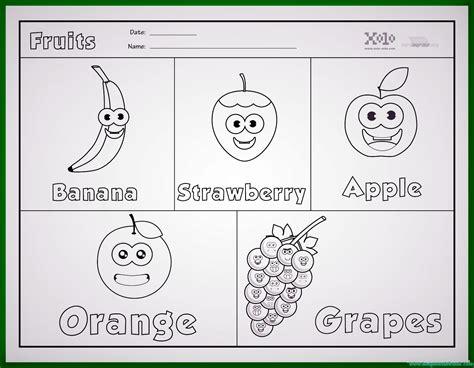 imagenes ingles y español dibujos de frutas en ingles para colorear