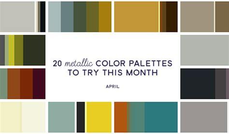Pantone Color Palettes 20 metallic color palettes to try this month april 2016
