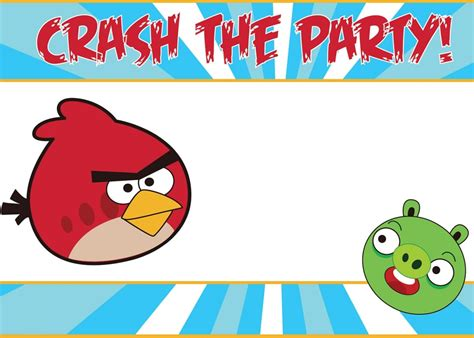 angry birds birthday invitation template free angry birds invitation template free