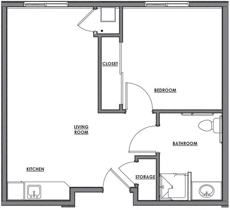 One Room Floor Plans | one room house floor plans contempary house small one