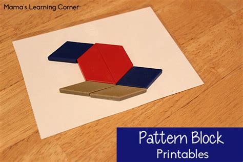 youtube pattern blocks free pattern block printables mamas learning corner