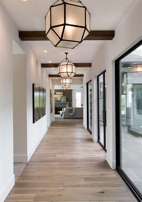 hall lighting repeating lights   expansive hallway