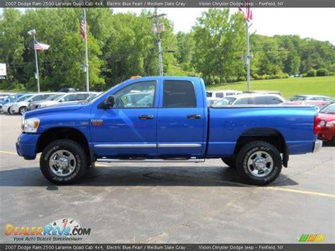 electric and cars manual 2007 dodge ram 2500 security system electric blue pearl 2007 dodge ram 2500 laramie quad cab 4x4 photo 12 dealerrevs com