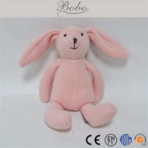 Grey Knitted Stuffed Rabbit Bunny Buy Knitted