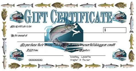 fishing gift certificate template 40 gift certificates templates for any occasion true