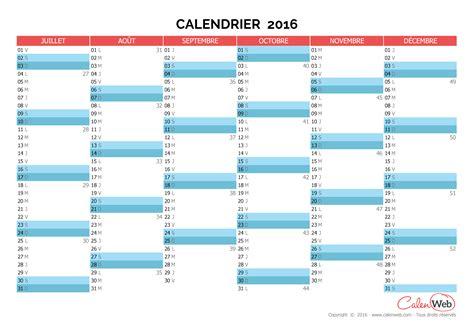 Calendrier 1 Semestre 2016 Calendriers Semestriels Page 2 Sur 2 Calenweb