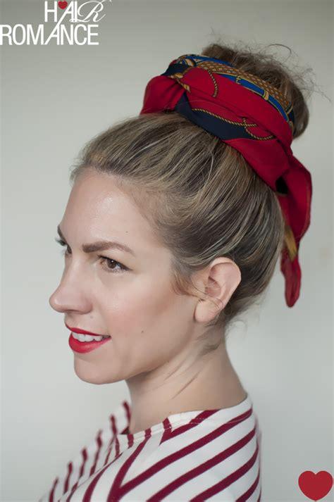 hair tutorial scarf hairstyle hairstyles