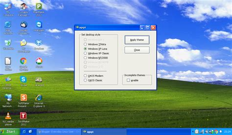 desktop themes greyed out turn q4os into a complete windows xp clone with xpq4 by