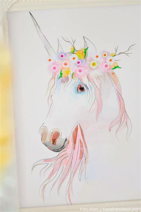 painting that you can print kara s ideas dreamy unicorn birthday kara s