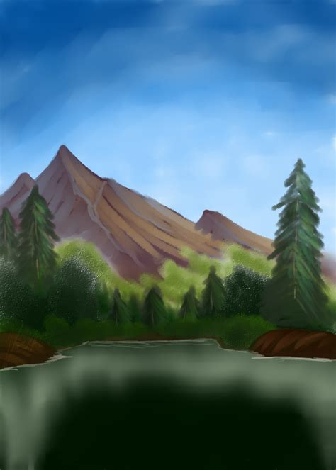 bob ross painting valley view showcase a gallery the pok 233 community forums
