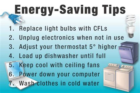 8 Tips For Home Energy Conservation by Poster Energy Saving Tips Home