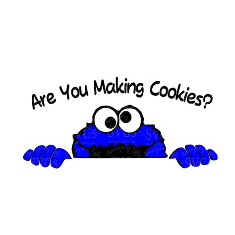 SVG Cookie Monster Are you making Cookies DXF Cookie