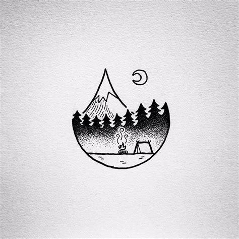 tent tattoo stencil of tent tattoos 2 golfian