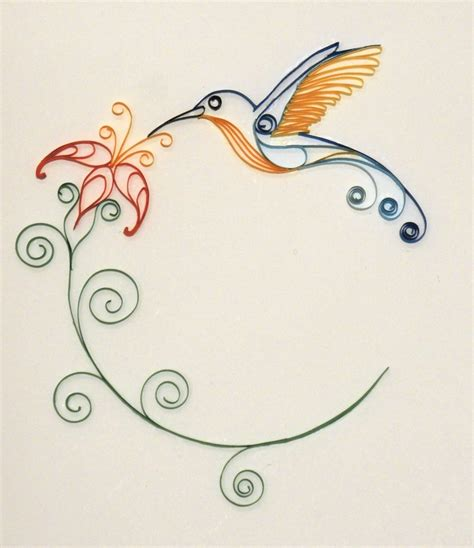 hummingbird paper quilling by 6re9 on deviantart