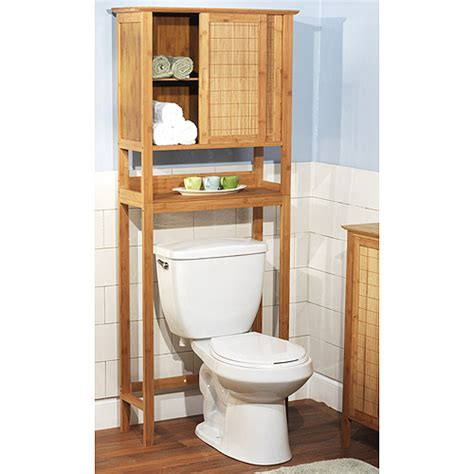 bamboo bathroom space saver bamboo over the toilet space saver 23040nat walmart com