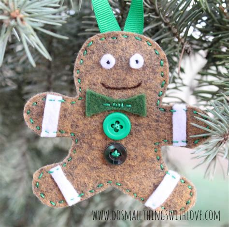 felt gingerbread christmas ornaments do small things