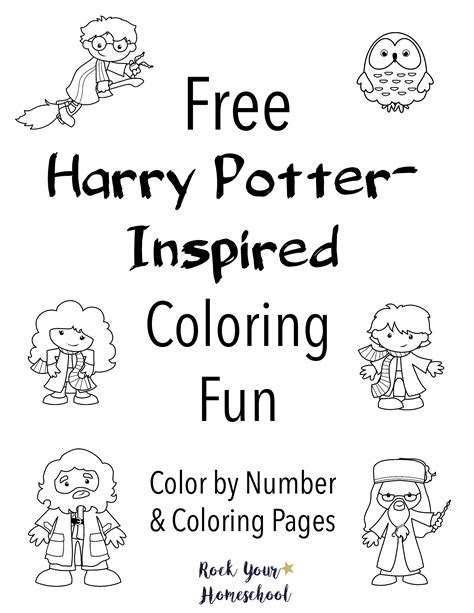 harry potter coloring pages color by number free harry potter inspired coloring rock your homeschool