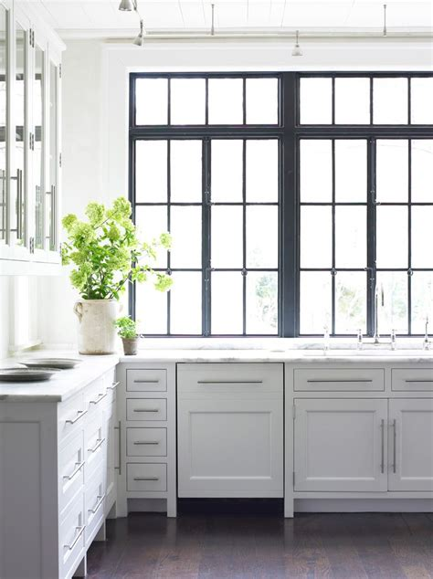 glass front kitchen cabinets transitional kitchen black casement windows kitchen transitional with glass