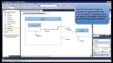 tutorial web components model web services with uml component diagrams in visual