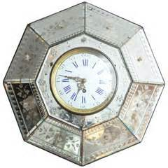 Hexagon Bevelled Mirror 10pcs 1 antique clocks for sale at 1stdibs